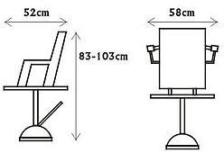 Парикмахерское кресло на гидравлике PR_216 Zd 300