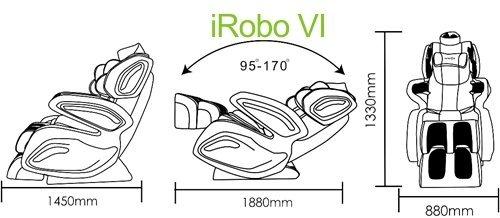 кресло для массажа irobo 6 размеры