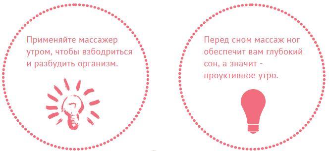 Массажер для икр и стоп Лунофит описание